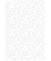 Witte lopers met hartjes 4,5 x 60 cm
