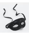 Oogmaskers in het zwart