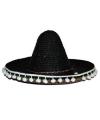 Zwarte Mexicaanse sombrero 60 cm