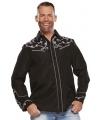 Cowboy western blouse zwart voor heren